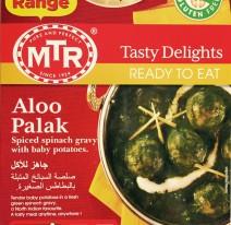 MTR new Aloo Palak