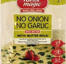 No onion no garlic Methi mutter malai