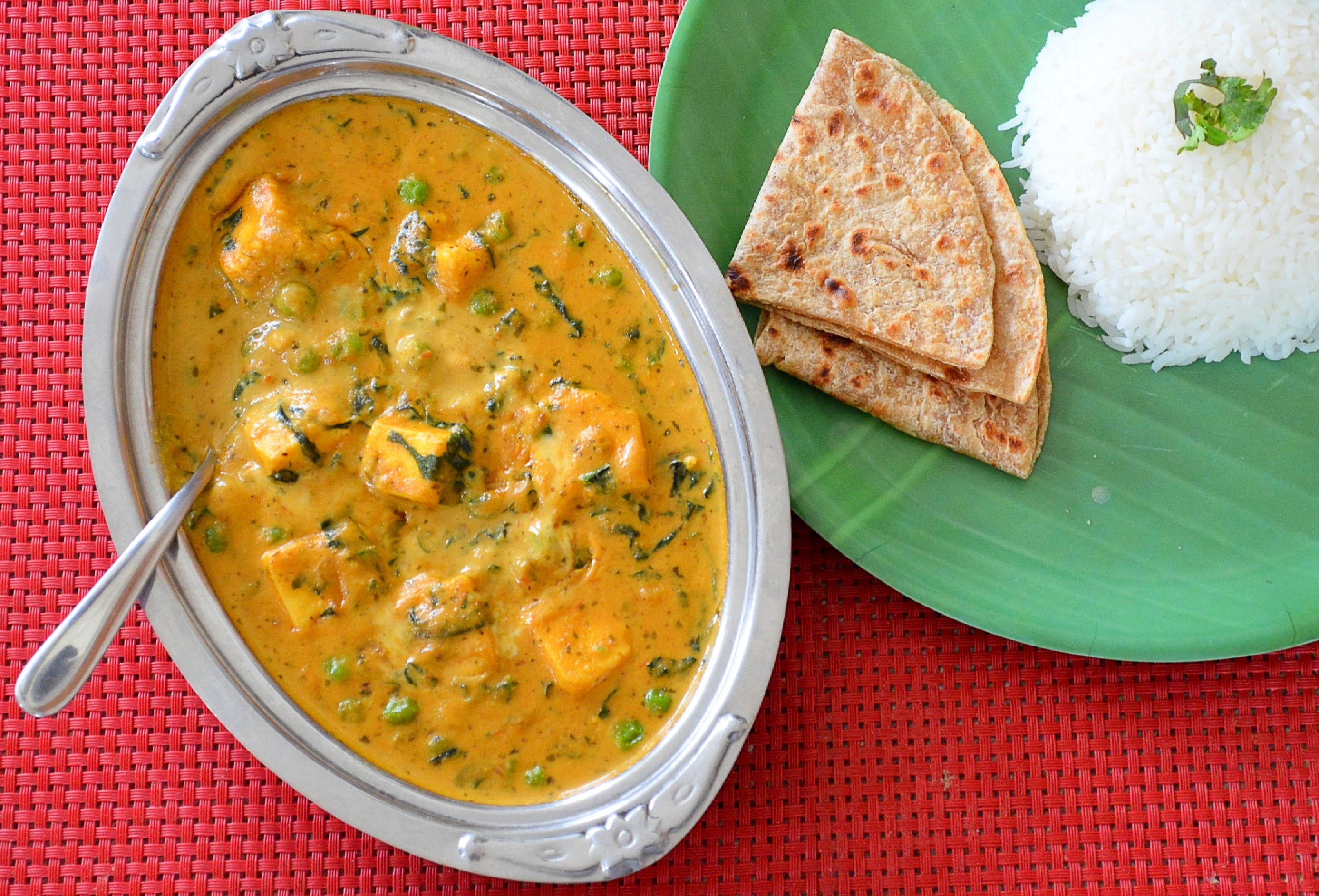 Paneer Methi Mutter Malai recipe